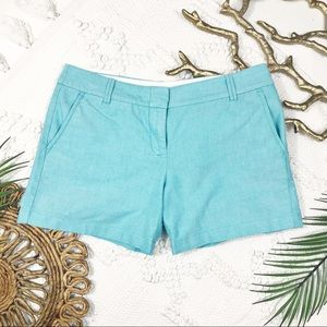 J. Crew City Fit Blue Cotton Shorts